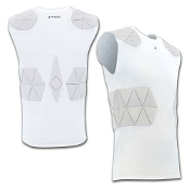 Youth Tri-Flex Compression Shirt with Cushion System-White