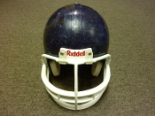Used Youth Navy Riddell VSR-2 Football Helmet