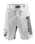 Gameness Top Dog Fight Shorts - White