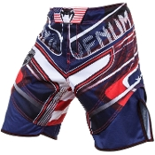 Venum USA Hero Fight Shorts - Blue/Red/Ice