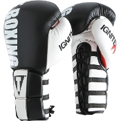 TITLE INFUSED FOAM IGNITE POWER LACE TRAINING GLOVES - BLACK