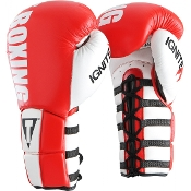 TITLE INFUSED FOAM IGNITE POWER LACE TRAINING GLOVES - RED