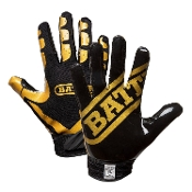 Battle Ultra-Stick Receiver Gloves - Youth Black/Gold