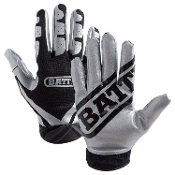 Battle Ultra-Stick Receiver Gloves - Youth Black/Silver