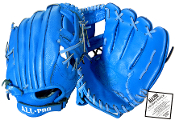 All Pro Top Grain Leather 11 1/2 Inch Glove - Blue