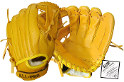All Pro Top Grain Leather 11 1/2 Inch Glove - Yellow