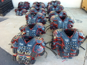 Used Adult Riddell Ultra Shoulder Pads