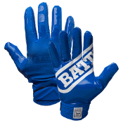 Battle DoubleThreat Football Receiver Gloves - Adult Blue