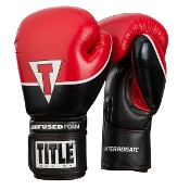 Title Interrogate Boxing Gloves - Red
