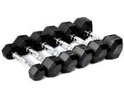 15 LB Rubber Hex Dumbbell