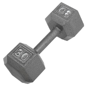 30 LB Cast Iron Hex Dumbbell