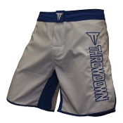 Throwdown Stealth 6 Fight Shorts - White/Blue