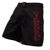 Throwdown Stealth 6 Fight Shorts - Black/Red