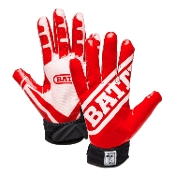 Battle Ultra-Stick Receiver Gloves - Youth Red/White