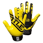 Battle Ultra-Stick Receiver Gloves - Youth Black/Yellow