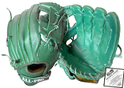 All Pro Top Grain Leather 11 1/2 Inch Glove - Green