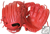 All Pro Top Grain Leather 11 1/2 Inch Glove - Red