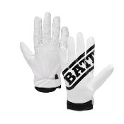 Battle Ultra Stick Receiver Football Gloves - Adult White
