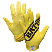 Double Threat Football Receiver Gloves - Youth Yellow