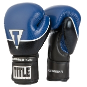 Title Interrogate Boxing Gloves - Blue