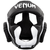 Venum Elite Headgear - Black/White