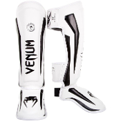 Venum Elite Shinguards - White/Black