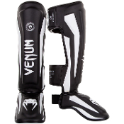Venum Elite Shinguards - Black/White