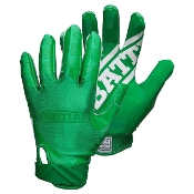 Battle Double Threat Receiver Football Gloves - Adult Green