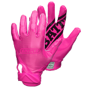 Battle Double Threat Receiver Football Gloves - Adult Pink