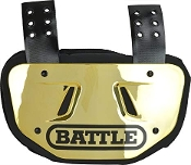 Youth Battle Chrome Back Plate - Gold