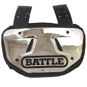 Adult Battle Chrome Back Plate - Silver